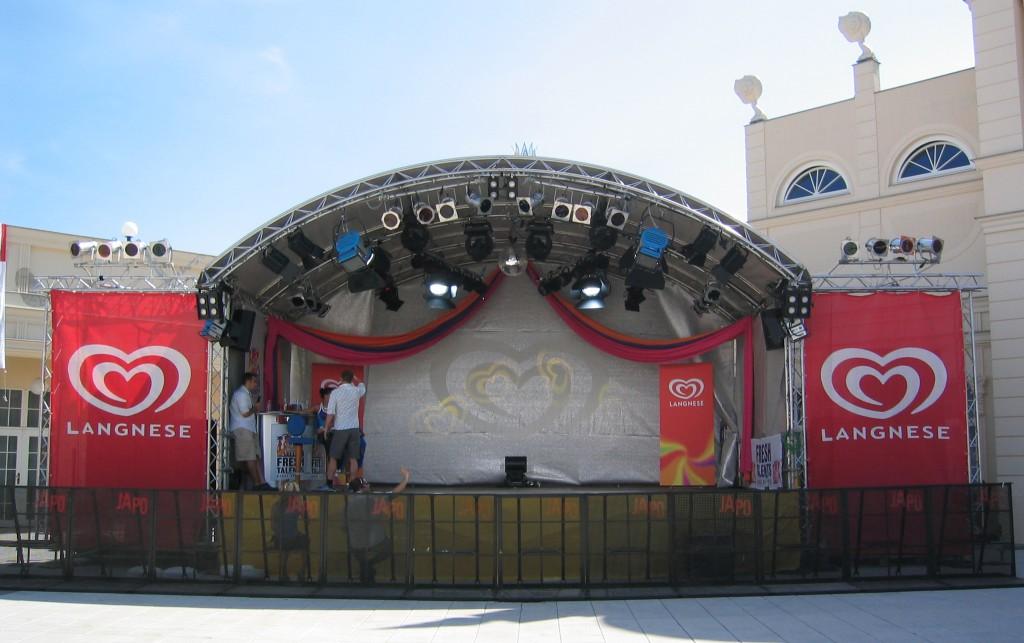litestage Bühne 8x6m