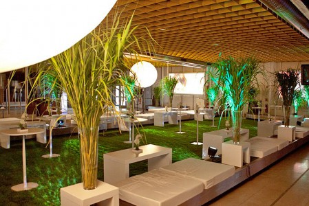Grüne Lounge im Terminal Tango im Hamburg Airport
