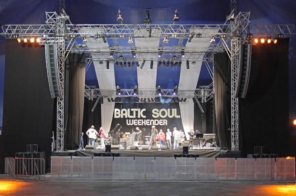 Baltic Soul Weekender 2013 tentstage Bühne