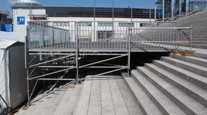 Ideen Expo, Treppenüberbauung