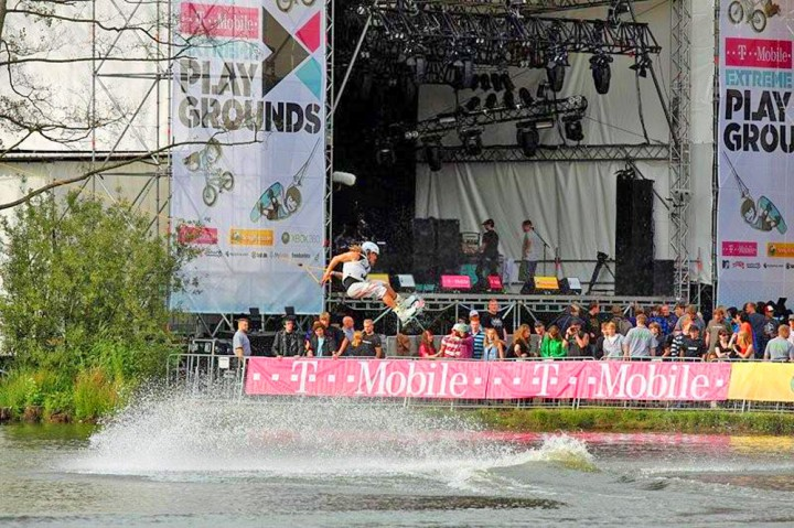 T-Mobile Playgrounds towerstage Bühne