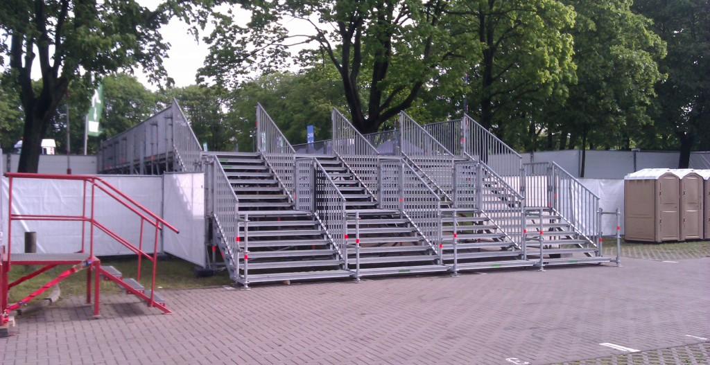 Treppenanlage auf dem Gelände des HSV Stadtions