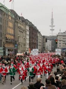 Santa Weihnachtsmannlauf