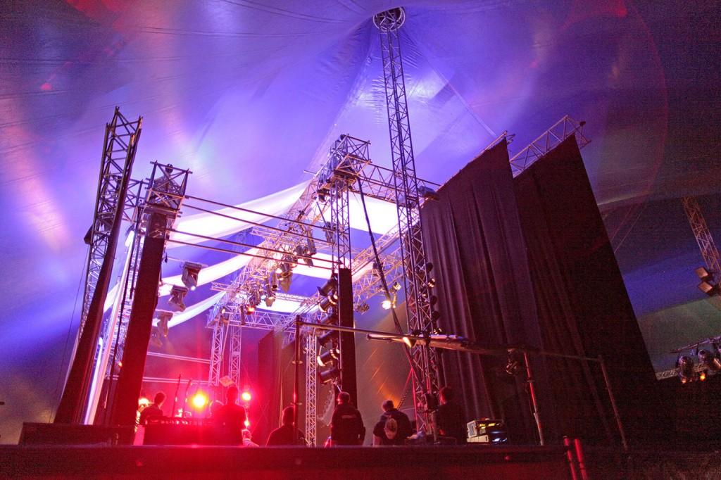Baltic Soul Weekender tentstage Bühne Seitenansicht