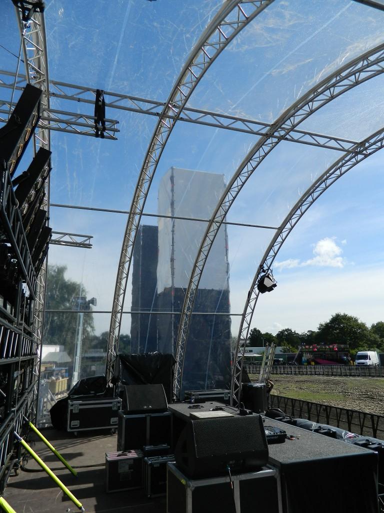 Seitenblick von der Bühne