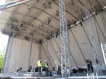 Ideen Expo, Aufbau der Bühne